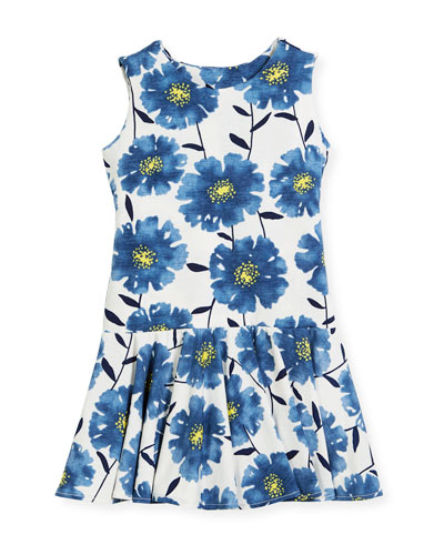 Knit Daisies Drop-Waist Dress, Size 4-6