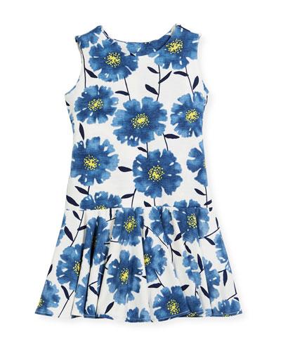 Knit Daisies Drop-Waist Dress, Size 7-14
