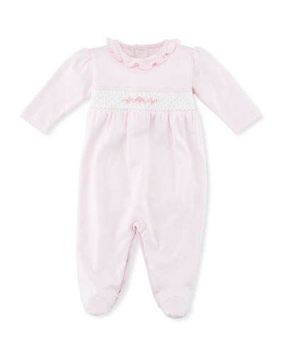 CLB Summer Medley Smocked Footie Pajamas, Size Newborn-9M