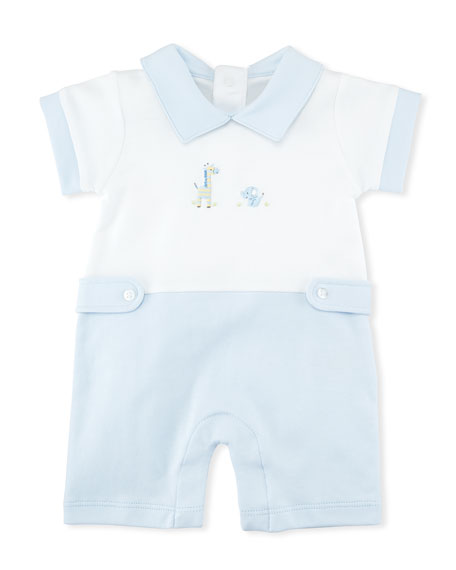 Kissy Kissy Scattered Baby Jungle Pima Playsuit, Size
