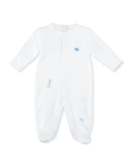 Scattered Baby Jungle Pima Footie Pajamas, Size Newborn-9M