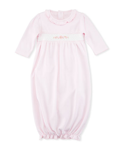CLB Summer Medley Smocked Sleep Gown, Size Newborn-S