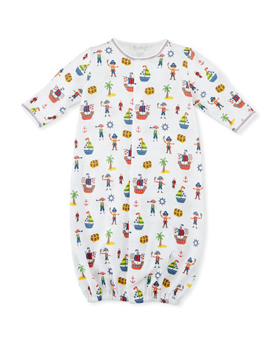 Buccaneers Print Convertible Sleep Gown, Size Newborn-Small