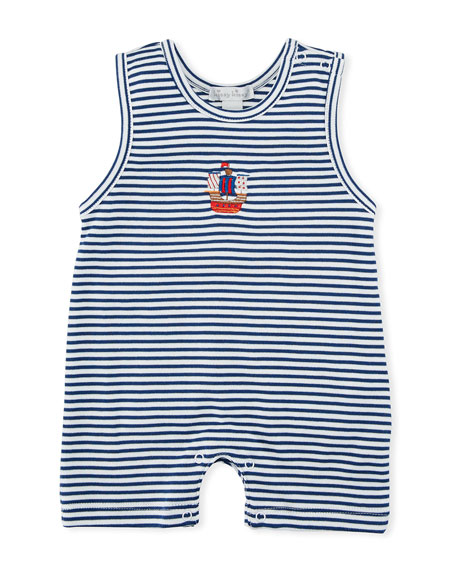 Kissy Kissy Buccaneers Stripe Pima Playsuit, Size 3-24