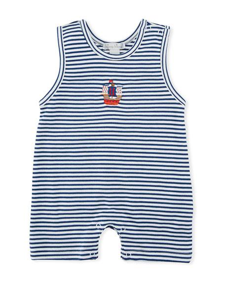 Buccaneers Stripe Pima Playsuit, Size 3-24 Months