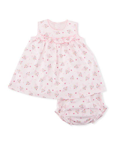 Cherry on Top Sleeveless Dress w/ Bloomers, Size 3-24 Months