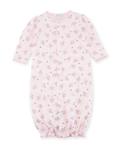 Cherry on Top Convertible Pima Sleep Gown, Size Newborn-S
