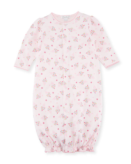 Cherry on Top Convertible Pima Sleep Gown, Size Newborn-S