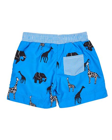 Safari-Print Swim Trunks, Size 6-24 Months