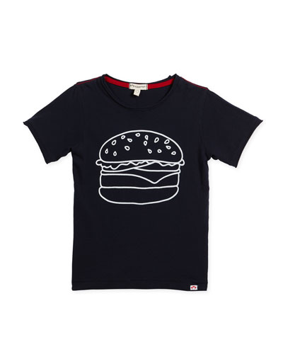 Burger Graphic T-Shirt, Size 2-10