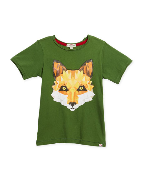 Appaman Geometric Fox Graphic T-Shirt, Size 2-10
