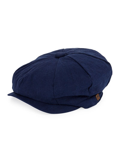 Boys' Linen-Cotton Paperboy Hat