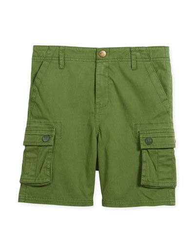 Mesa Cotton-Stretch Cargo Shorts, Size 2-10