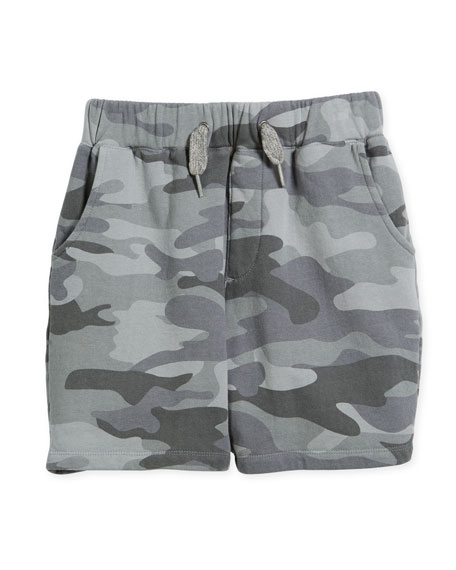 Preston Cotton Camo Shorts, Size 2-10