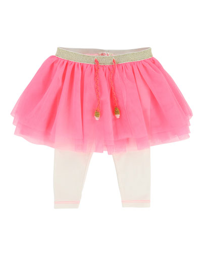 Leggings w/ Attached Tulle Skirt, Size 6-18 Months