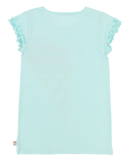 Short-Sleeve Jersey Shirt Dress w/ Ice Cream Detail, Size 2-8