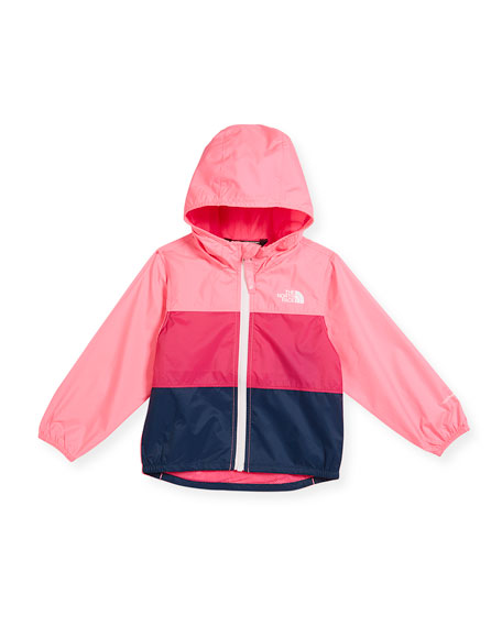 Flurry Tricolor Wind Jacket, Pink, Size 2-4