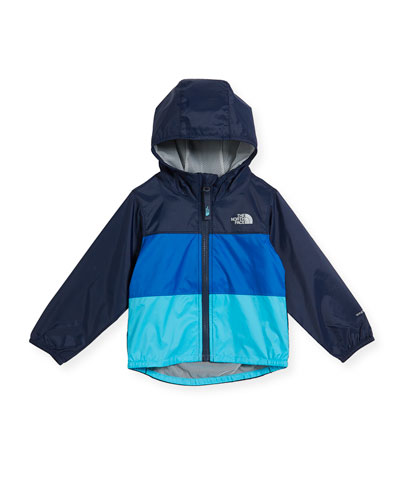 Flurry Tricolor Wind Jacket, Blue, Size 2-4