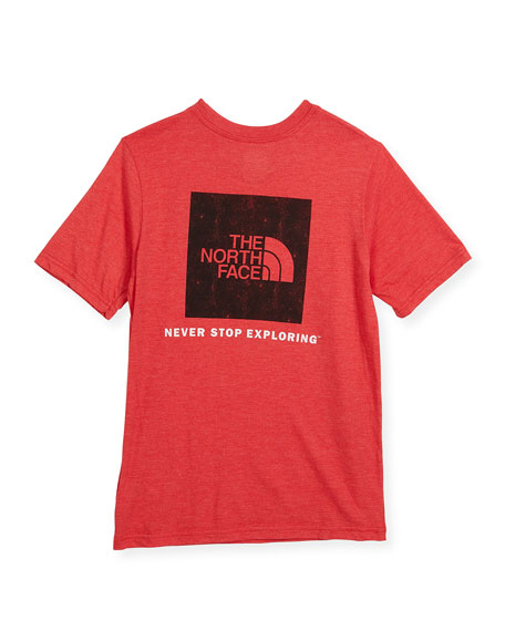 Short-Sleeve Tri-Blend Logo T-Shirt, Size XXS-XL