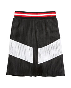 e84cff793b Givenchy Two-Tone Pleated Mesh Skirt, Size 6-10
