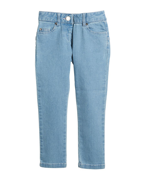 Givenchy Star-Back Denim Trousers, Size 12