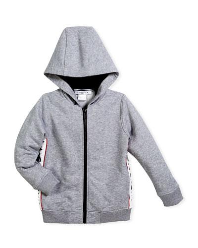 Hooded Jacket w/ Logo Sides, Size 6-10