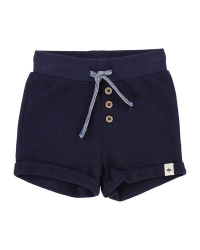 Pique Cotton-Blend Shorts, Size 12M-3T