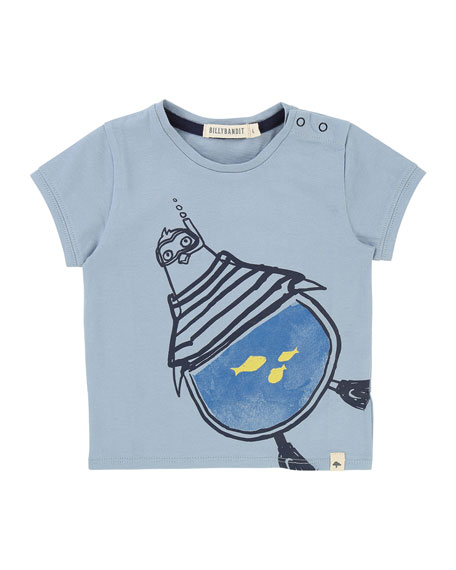 Snorkeling Penguin Graphic T-Shirt, Size 12M-3T