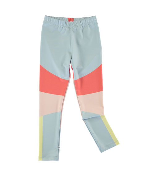 Nikia Sporty Colorblock Leggings, Multi, Size 2-14