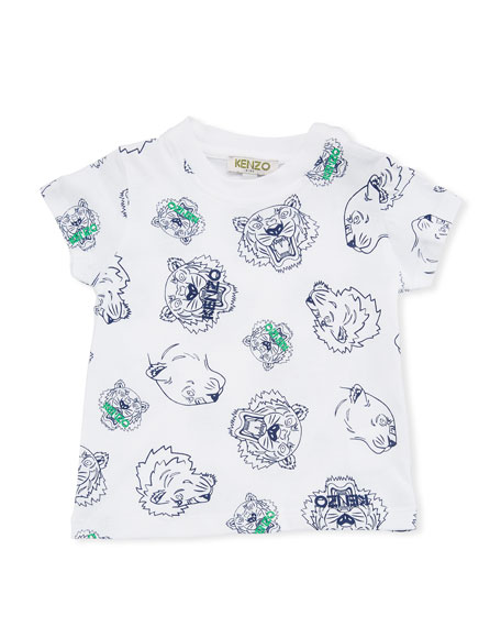 977a307dc Kenzo Allover Tiger Face T-Shirt, White, Size 6-18 Months