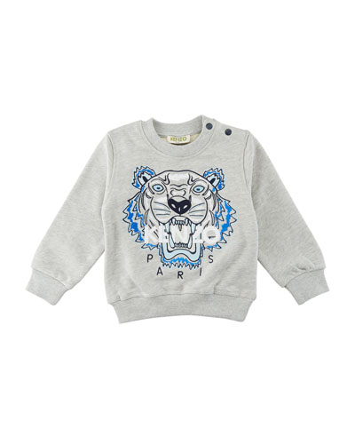 Tiger Embroidered Sweater, Size 2-3