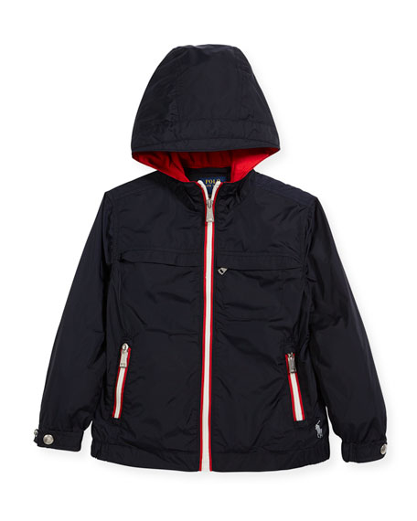 Ralph Lauren Childrenswear Nylon Taffeta Hooded Jacket, Size