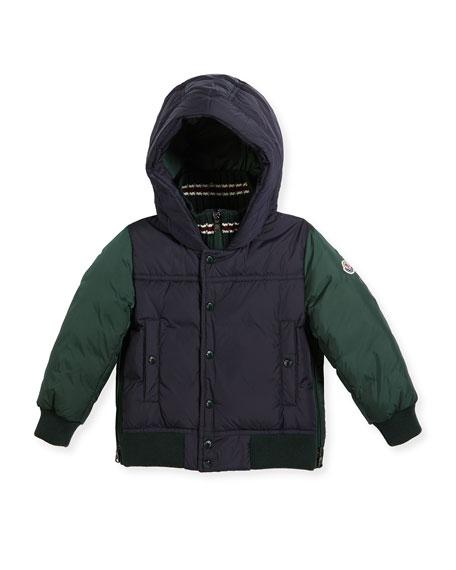 Luke Two-Tone Hooded Jacket, Size 4-6