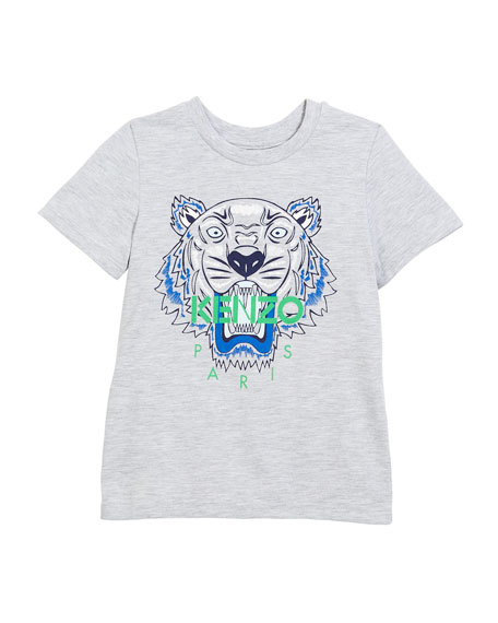Tiger Face Graphic T-Shirt, Sizes 8-12
