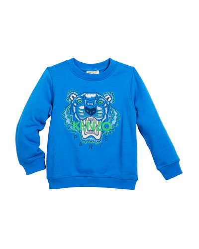 Tiger Face Sweatshirt, Sizes 8-12