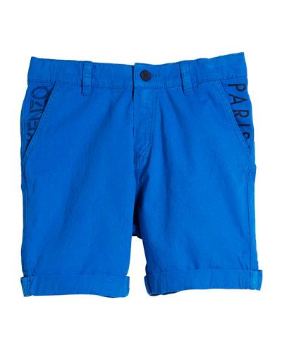 Chino Shorts w/ Logo Pockets, Size 8-12