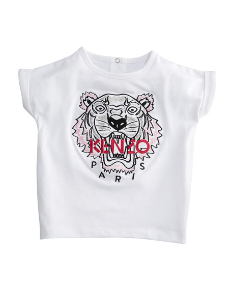 Short-Sleeve Tiger Face T-Shirt, Size 12-18 Months