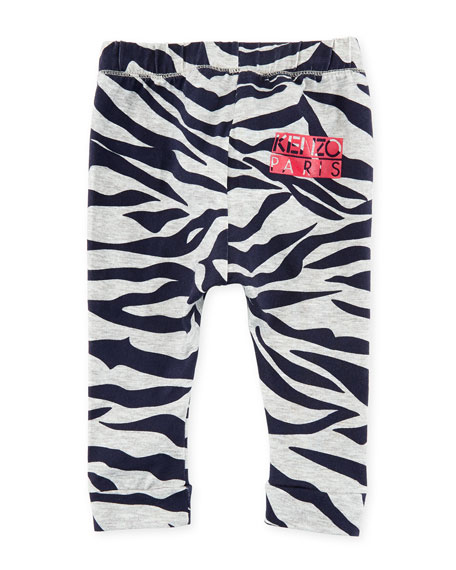 Tiger Stripe Stretch Leggings, Gray, Size 12-18 Months