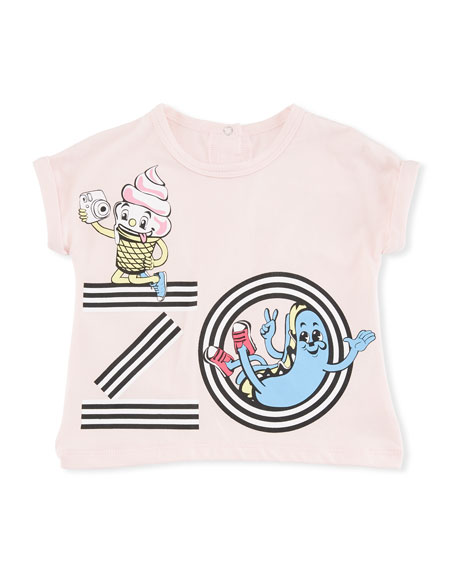 Ice Cream Logo Graphic T-Shirt, Pink, Size 2-3