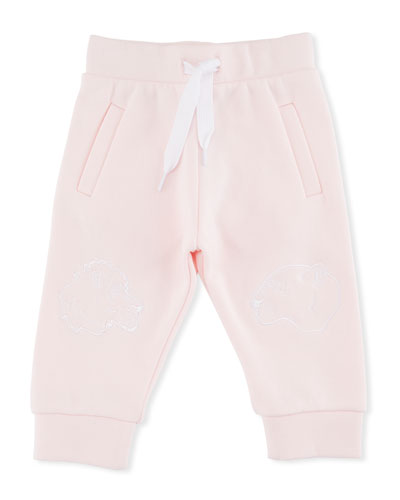 Sweatpants w/ Tiger Face Knees, Pink, Size 6-18 Months