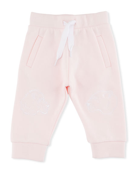 Kenzo Sweatpants w/ Tiger Face Knees, Pink, Size
