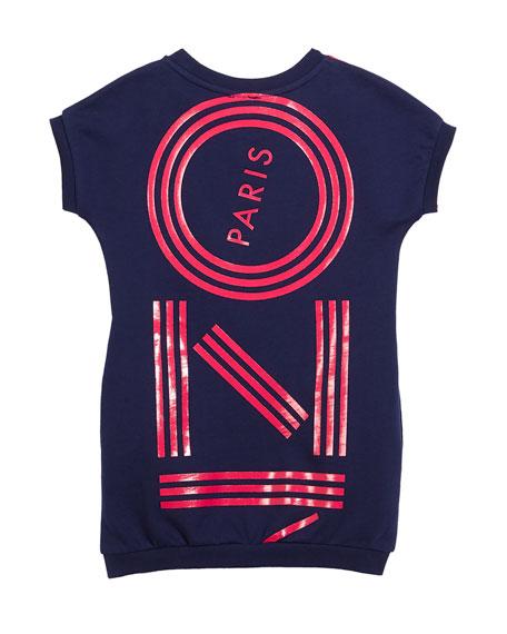 Short-Sleeve Logo Dress, Size 4-6