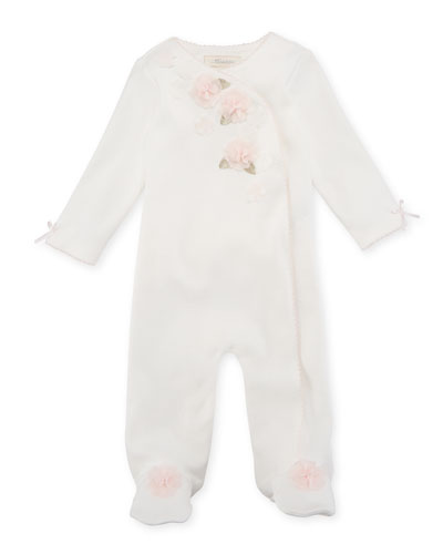 Ruffle & Flowers Footed Coverall, Size 3-9 Months