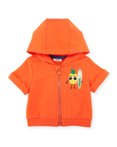Pineapple Surfer Zip-Up Hoodie, Size 12-24 Months