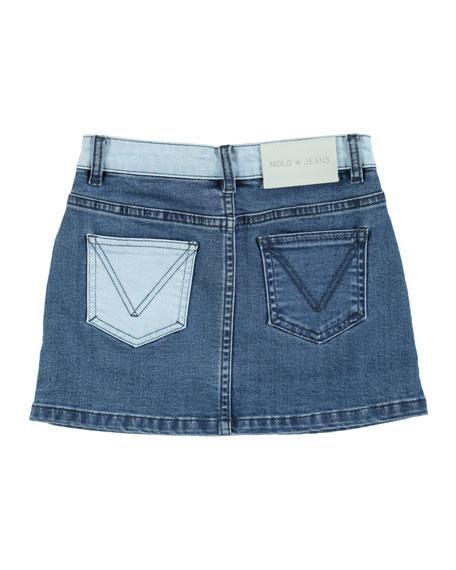 Bel Collage Denim Mini Skirt, Size 3T-14