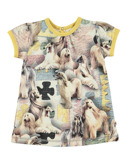 Cathleen Dogtastic Short-Sleeve Dress, Size 6-24 Months