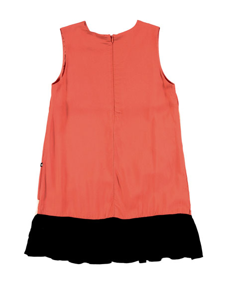 Calante Burnt Sienna Sleeveless Ruffle Dress, Size 3T-12