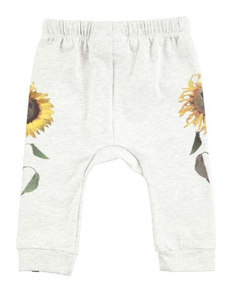 Sabbe Sun Flower Jogger Pants, Size 6-24 Months