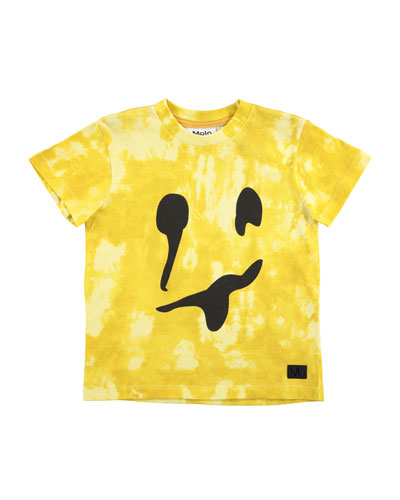 Raymont Tie-Dye Smiley Face T-Shirt, Size 4-10