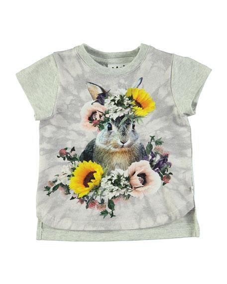 Erin Short-Sleeve Bunny T-Shirt, Size 6-24 Months